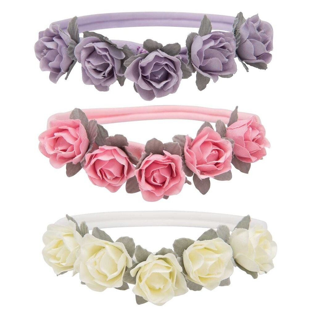 Elegant 3 Pack Floral Headbandx