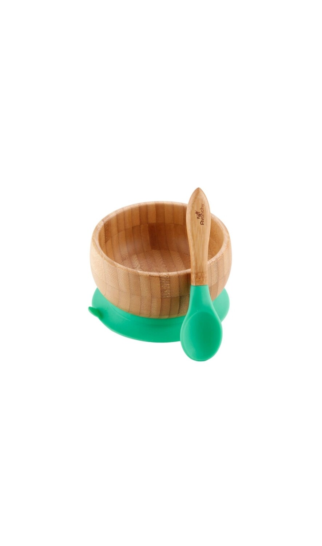 Avanchy Green Bamboo Suction Bowl