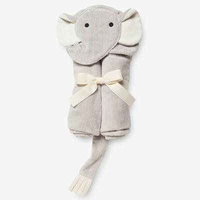 Elegant Baby Elephant Bath Wrap Grey