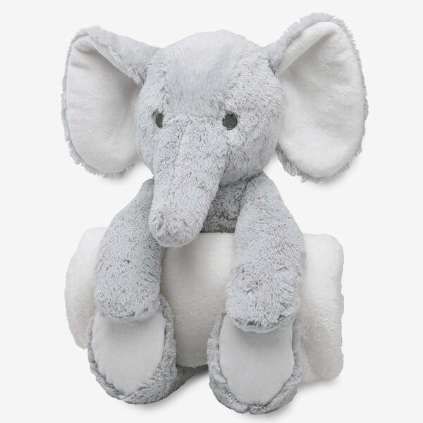 Elegant Baby Grey Elephant Huggie
