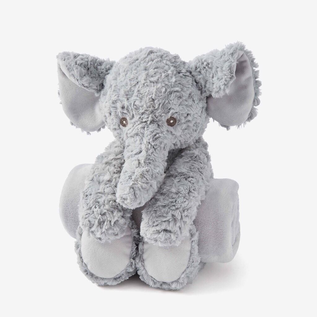 Elegant Huggie Swirl Elephant