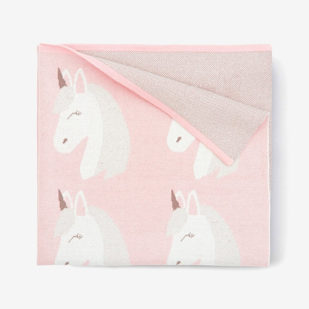 Elegant Baby Unicorn Blanket Pink