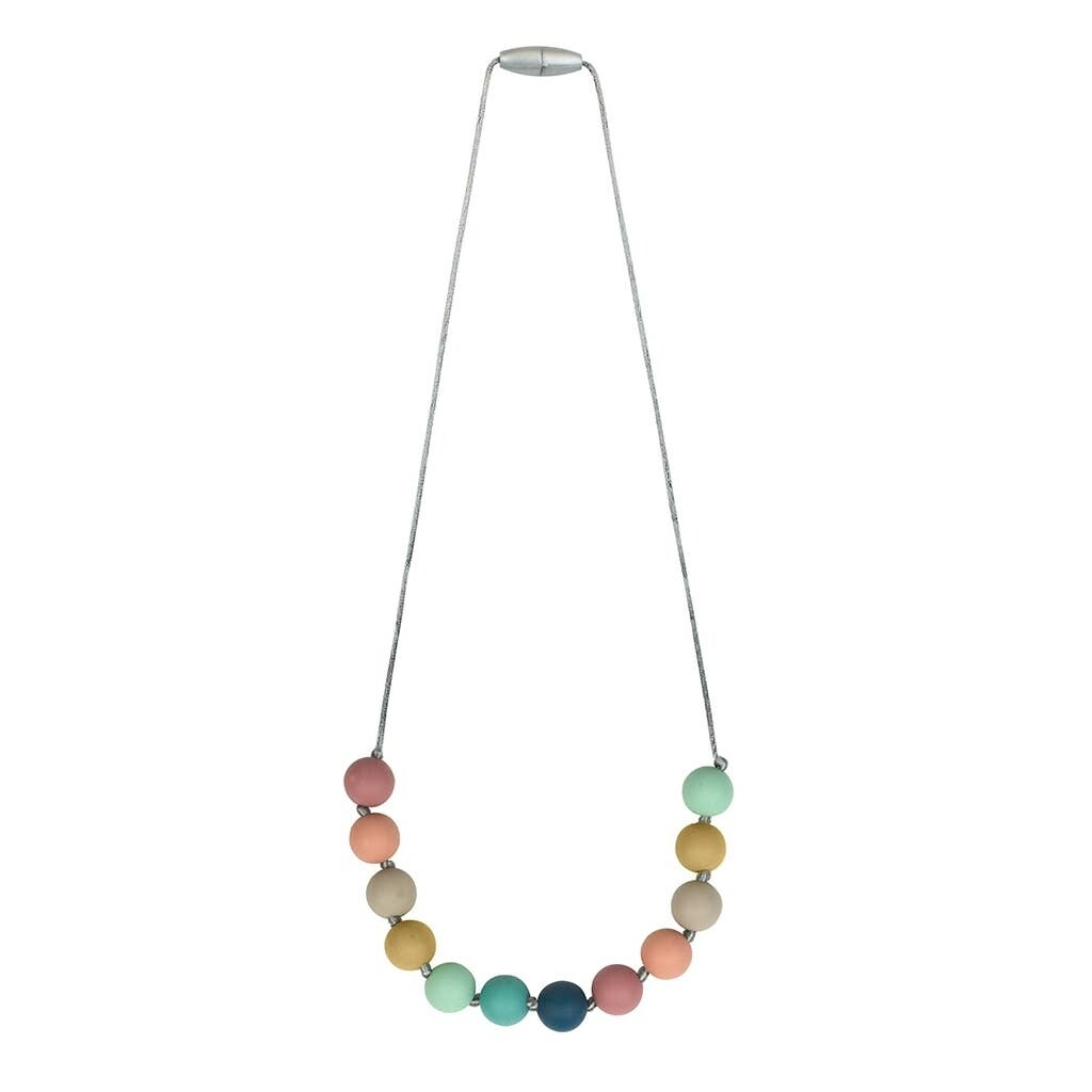 Itzy Teething Necklace Rainbow