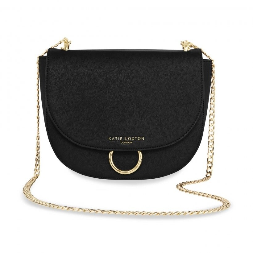 Katie Lucia Saddle Bag Black