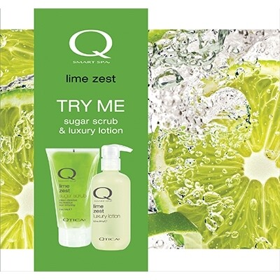 Zoya Smart Spa Lime Zest Scrub Lotion Set