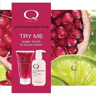 Zoya Smart Spa Sugar Scrub Lotion Set Pomegranate Lime