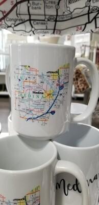 Queen Bee Designs Medina Map Mug