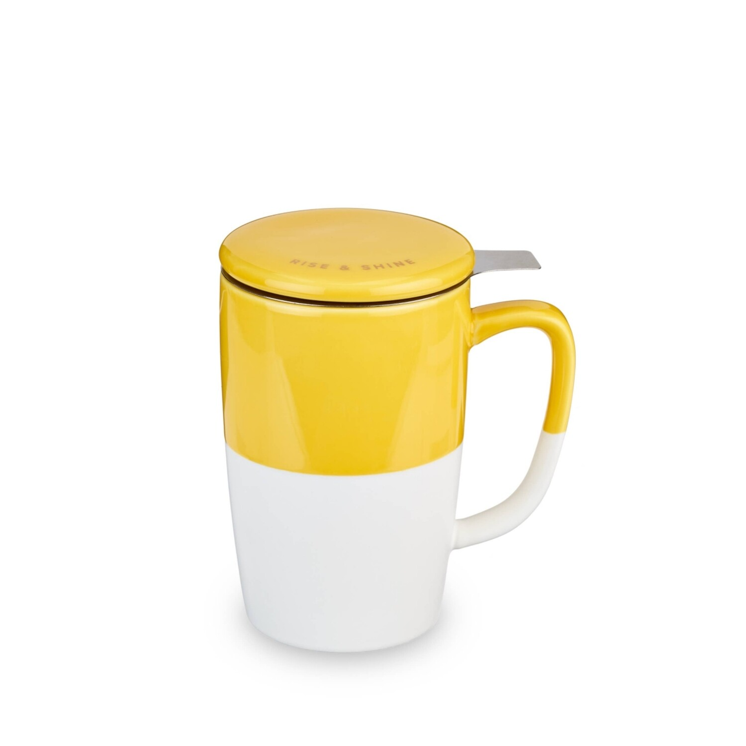 Pinky Up Delia Ceramic Mug And Infuser Rise And Shine Yellow