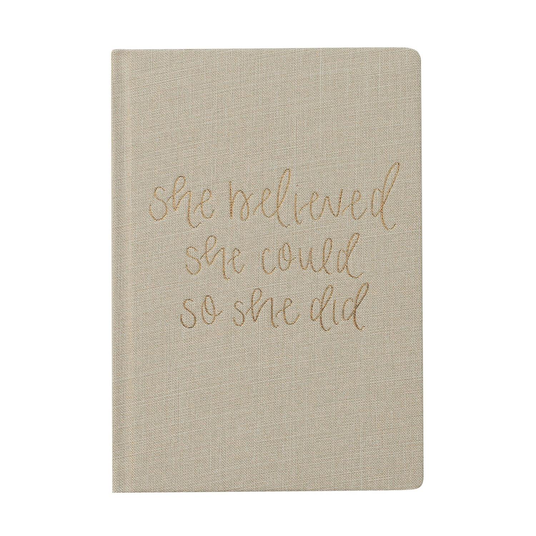 Sweet Water Decor She Believed Journal