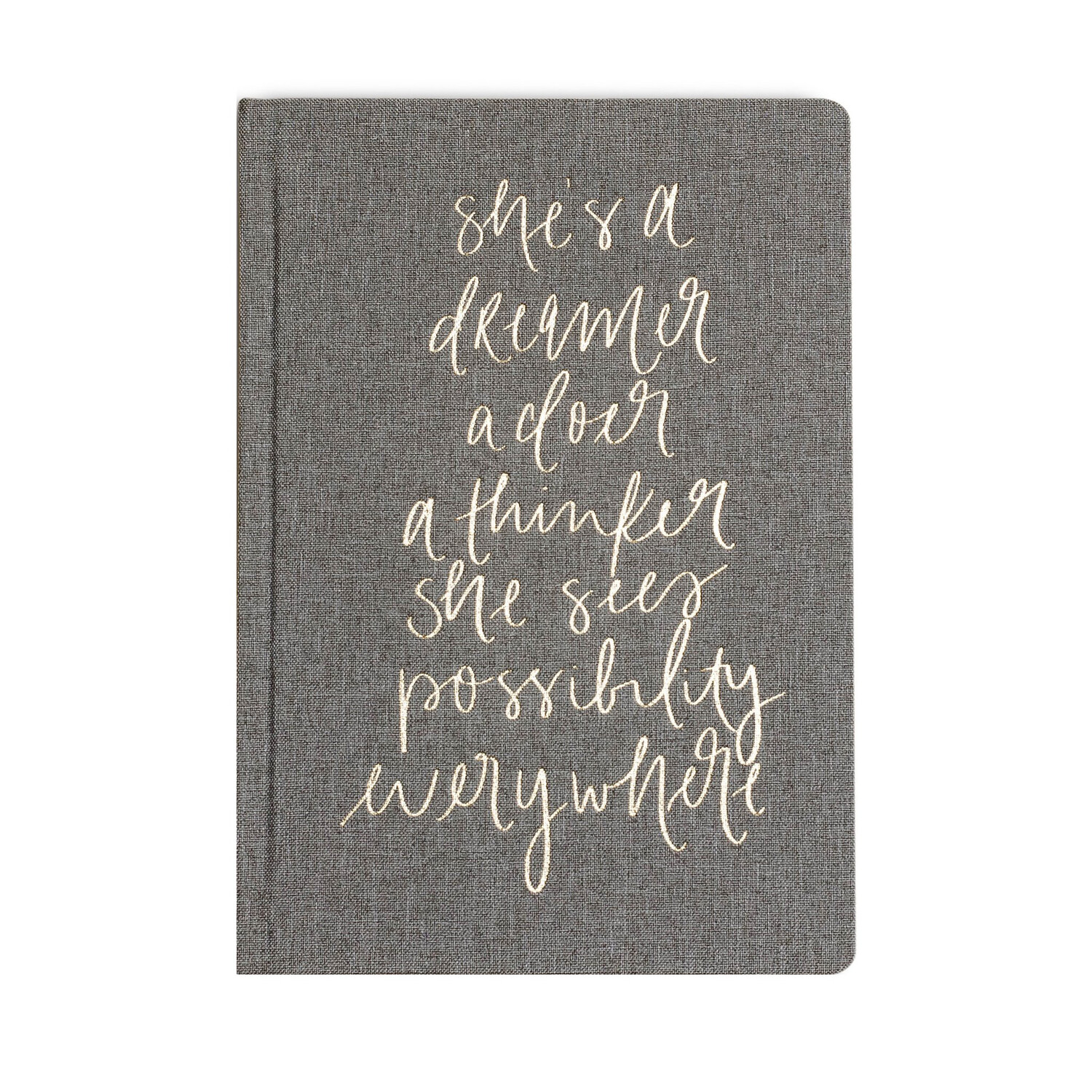 SWD Shes A Dreamer Journal Grey
