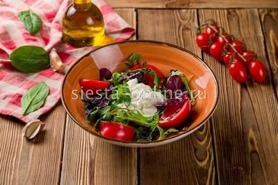 Страчателла с розовыми томатами