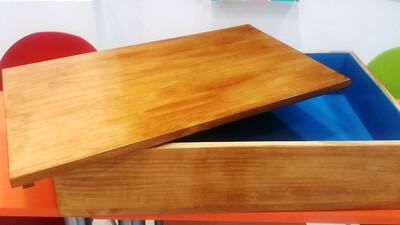Caja de madera de pino para Técnica de la Caja de Arena