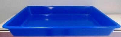 Bandeja de plástico azul