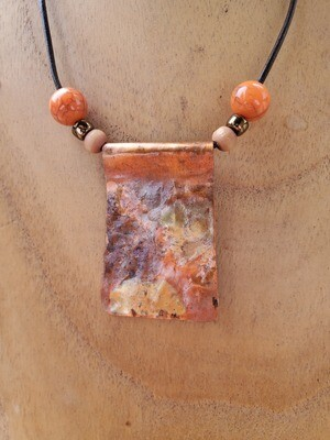 Hand Wrought Copper Pendant by Vicky Johnson