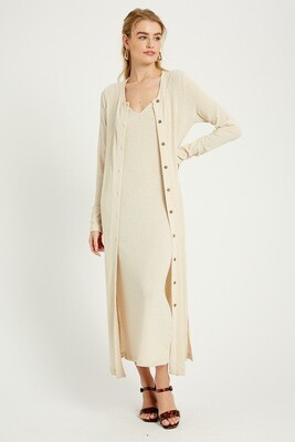 Wishlist 2 Piece Dress & Cardi Set Cream