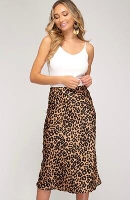 She & Sky Leopard Skirt