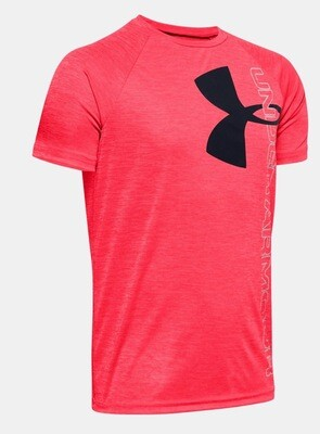 Under Armour Logo Tee Coral