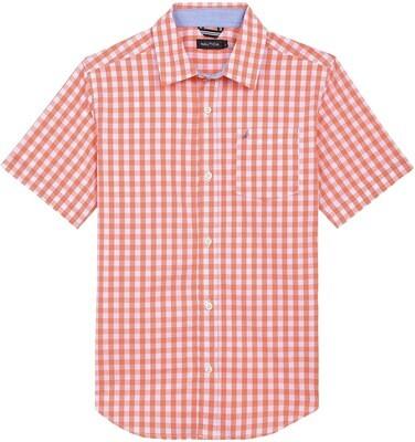 Nautica Gingham Shirt Orange