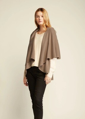 Look By M Shawl Vest Tan