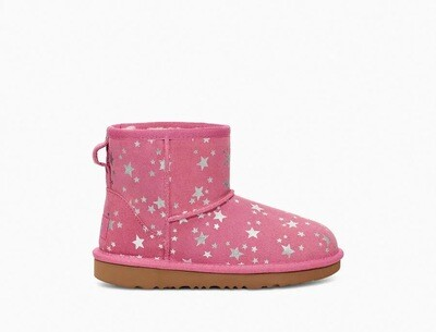 UGG Classic Mini Pink With Stars