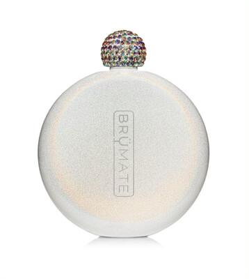 Brumate Glitter Flask White 5oz.