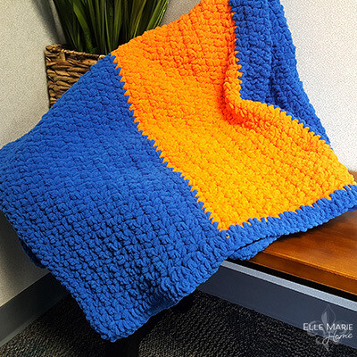 Sporty Color Block Crochet Blanket Pattern