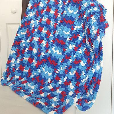 One Weekend Half Double Crochet Blanket Pattern