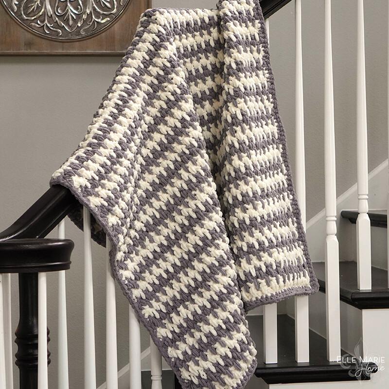 Linen Stitch Crochet Blanket Pattern