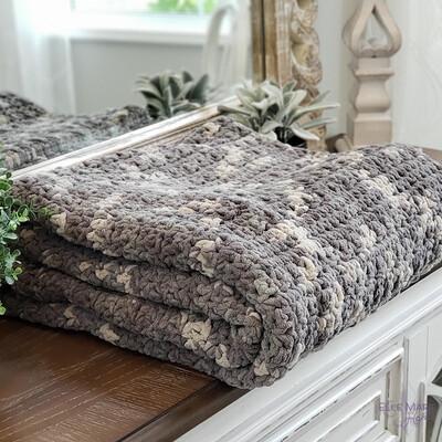 Camo Look Crochet Blanket Pattern