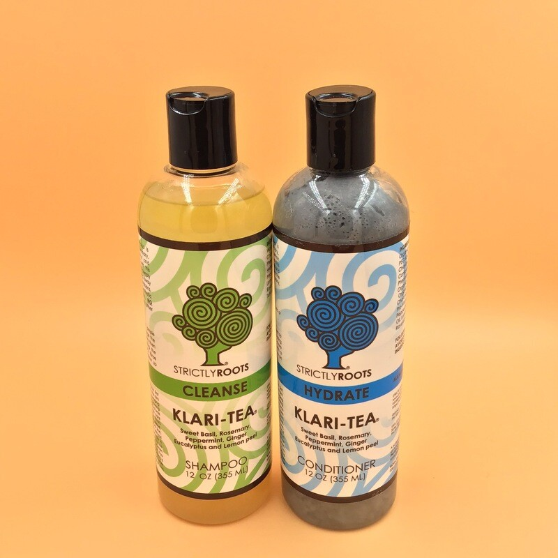 LIMITED TIME ONLY Klari-Tea Cleanse Shampoo &  Hydrate Conditioner 12 Oz.