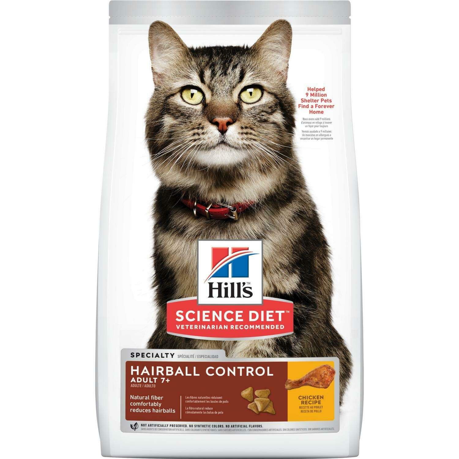 Hill's Adult 7+ Hairball Control cat food
