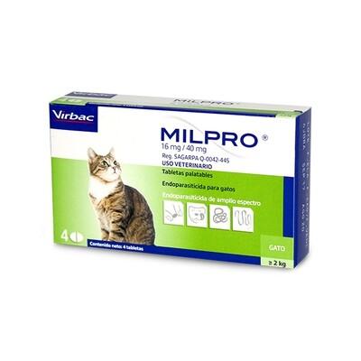 Desparacitante, Milpro, para  Gatos