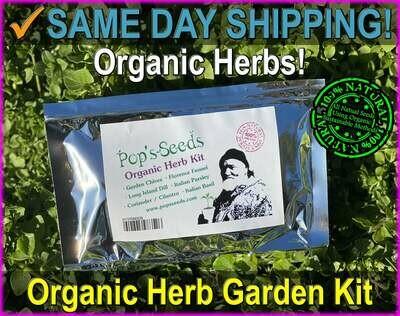 Organic Kitchen or Garden Herb Kit