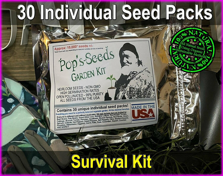 30 Pack Vegetable Garden Kit