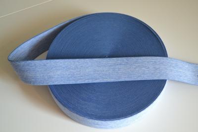 Zachte sierelastiek 4cm midden blauw