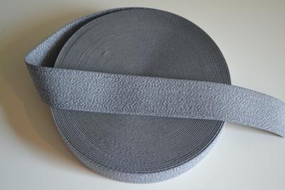 Zachte sierelastiek 4cm grijs