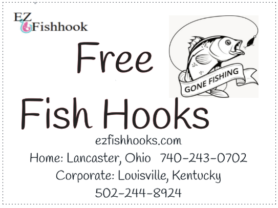 (FREE 25 # 8 EZ Fishhooks & 100 yds 4 lb EZ Fishing line), packaged together for you. One Sample offer is Free for you to try the new threadles hook, use only EZ fishing line with EZ fish hooks