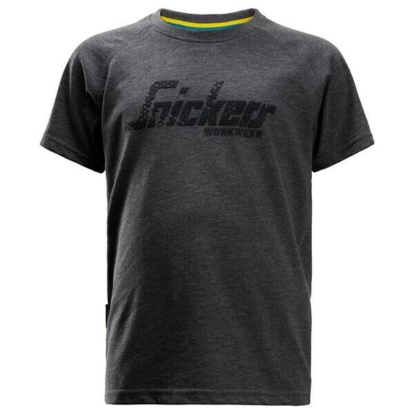 Snickers Junior Logo T-shirt - DARK BLUE MELANGE