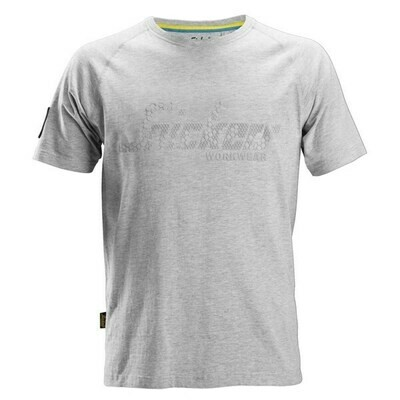 Snickers Logo T-shirt - GREY MELANGE