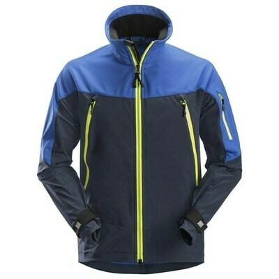 Snickers FlexiWork, Soft Shell Stretch Jack - TRUE BLUE/NAVY