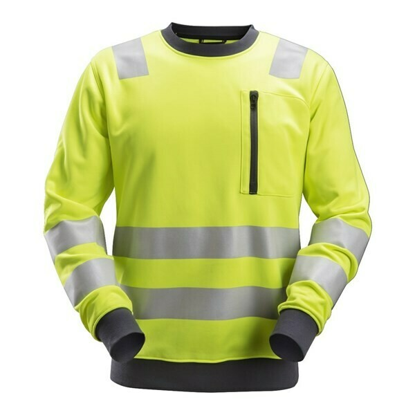 Snickers AllroundWork, High-Vis Sweatshirt Klasse 2/3 - high vis yellow