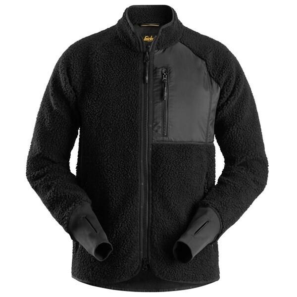 AllroundWork, Pile Full Zip Jacket - zwart