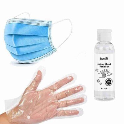 Weekly Public Transport Essential Pack With Gloves