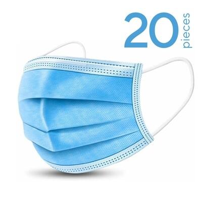 20 x disposable face masks