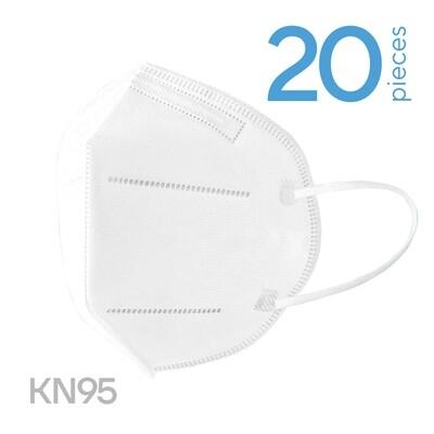 20 x FFP2 (KN95) respiratory face masks