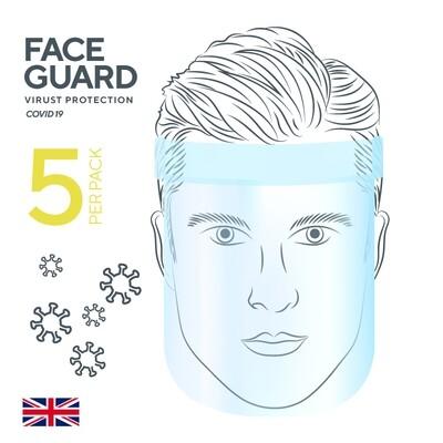 5 Pack face guard / shield / visor