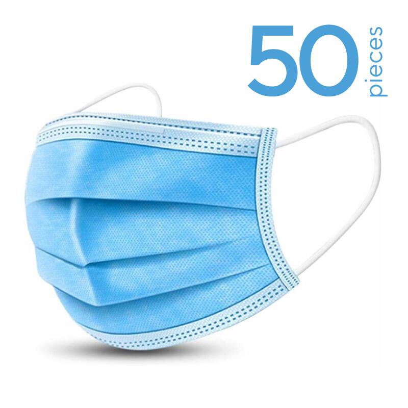 50 x disposable face masks
