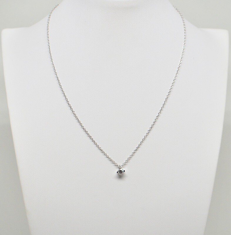 Collier en or blanc 18k 42 cm