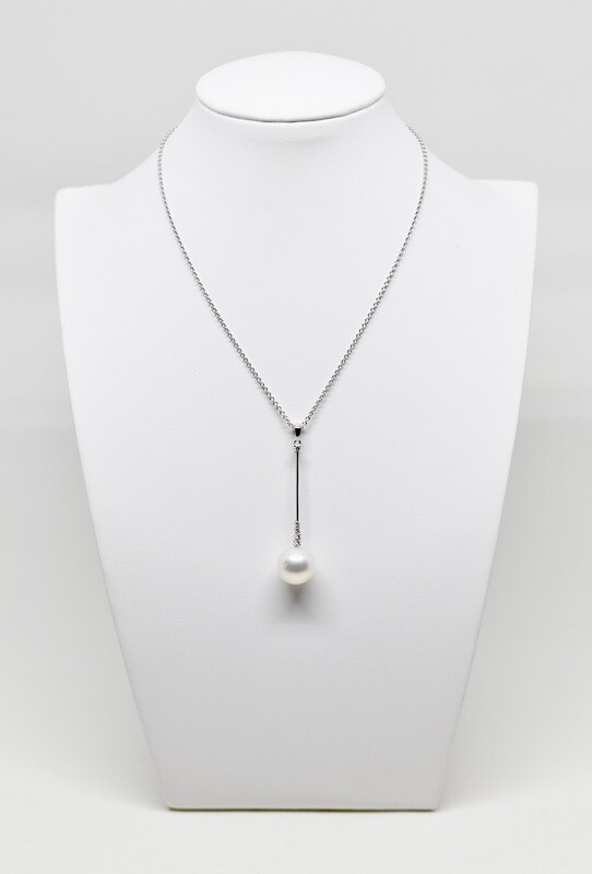 collier en or blanc 18k 40cm