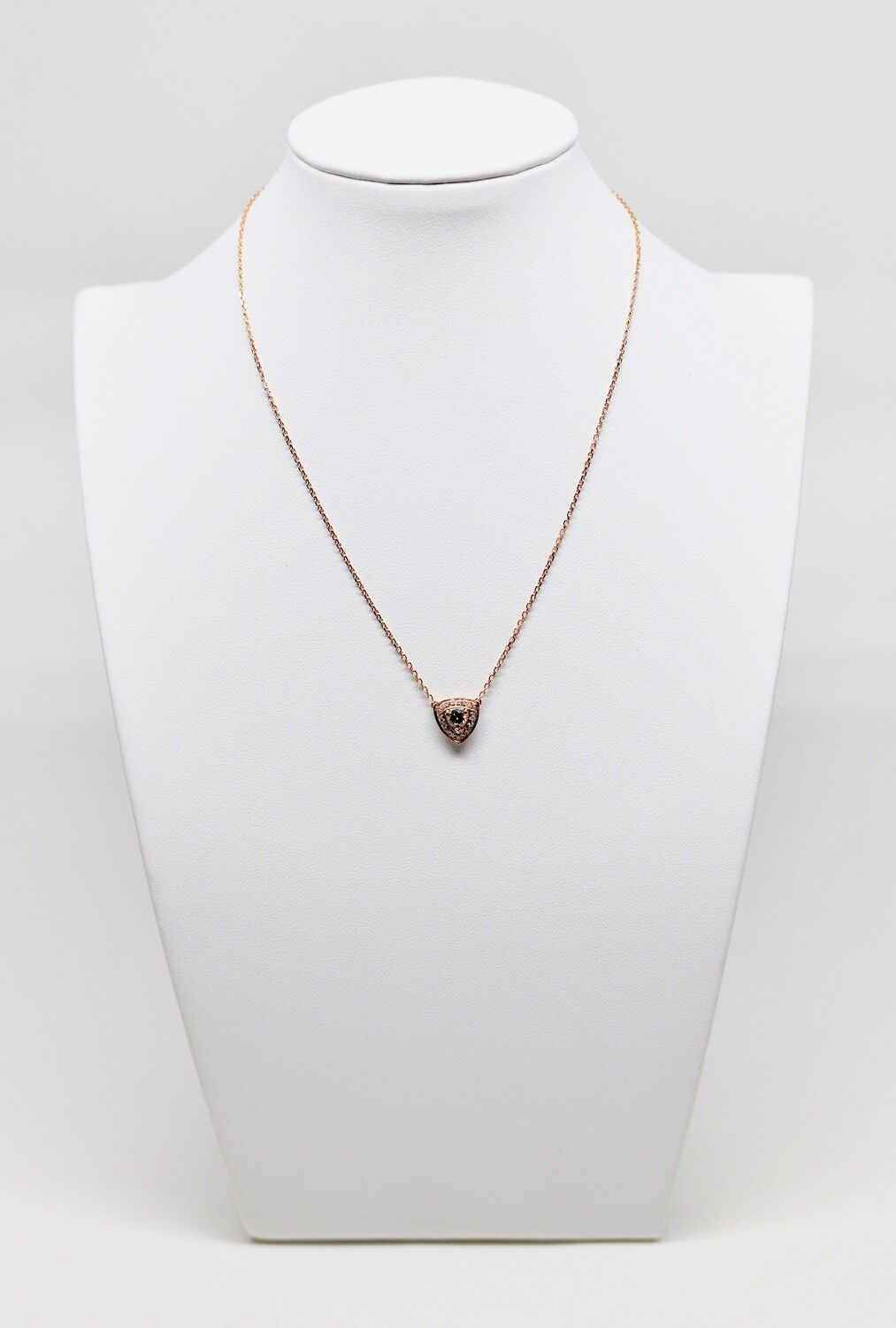 Collier en or rose 18k, longueur 45 cm